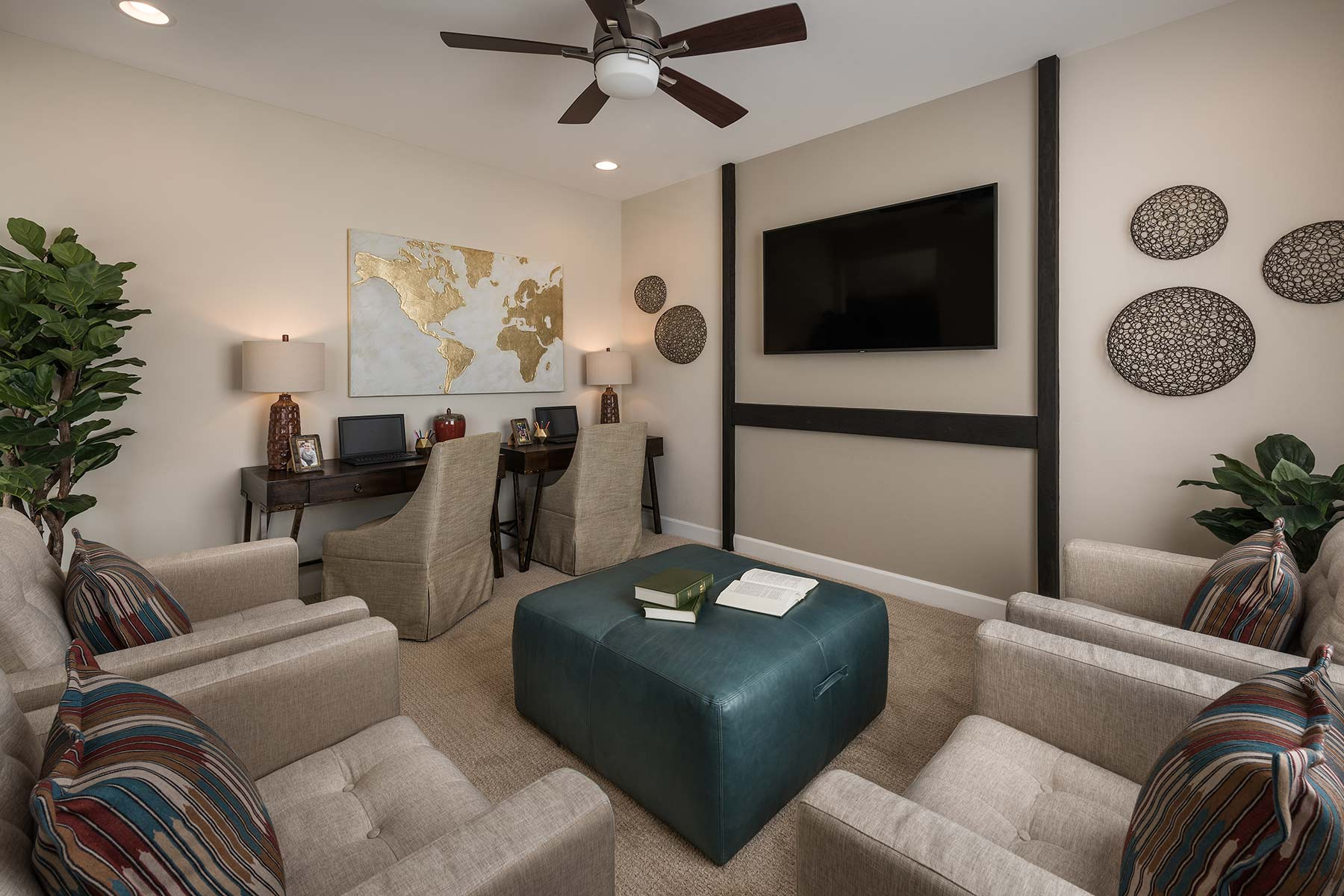 Agave Plan Media Room at Saguaro Trails in Tucson Arizona by Mattamy Homes