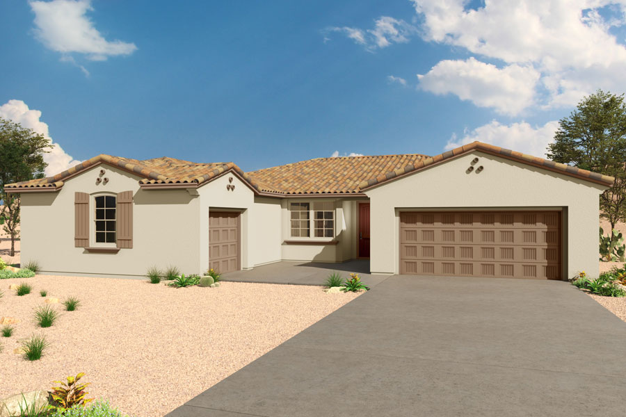 Echo Plan Elevation Front at Saguaro Trails in Tucson Arizona by Mattamy Homes