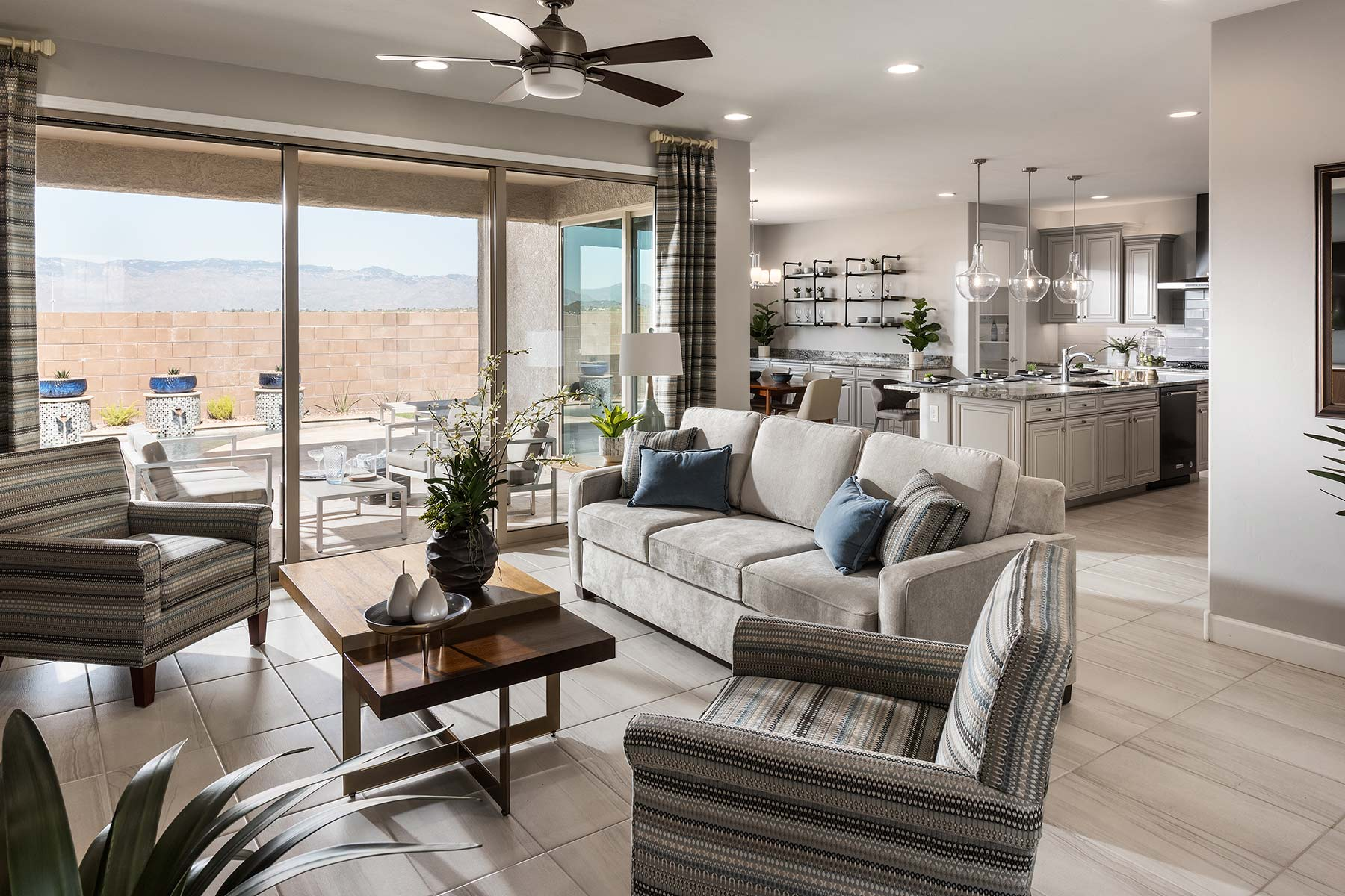 Echo Plan Greatroom at Saguaro Trails in Tucson Arizona by Mattamy Homes