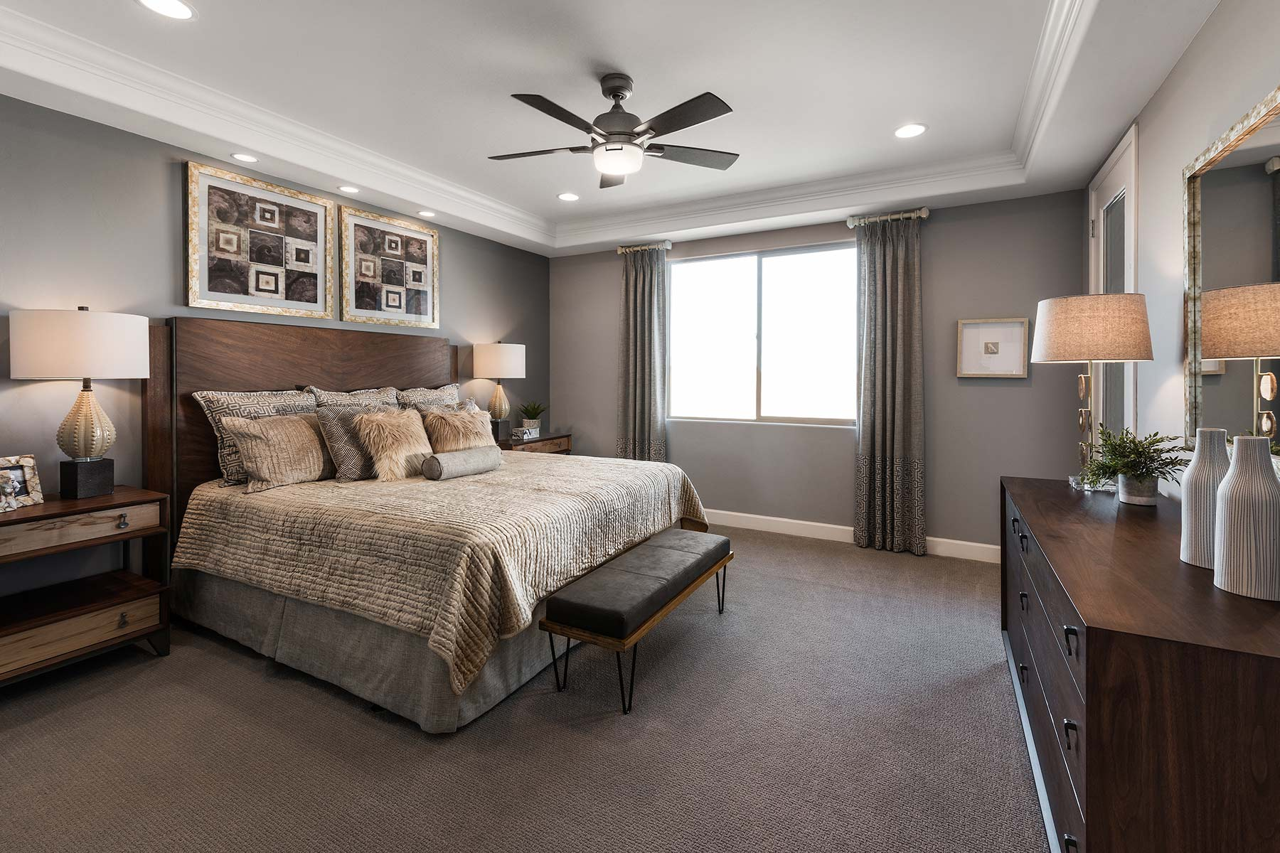 Echo Plan Bedroom at Saguaro Trails in Tucson Arizona by Mattamy Homes