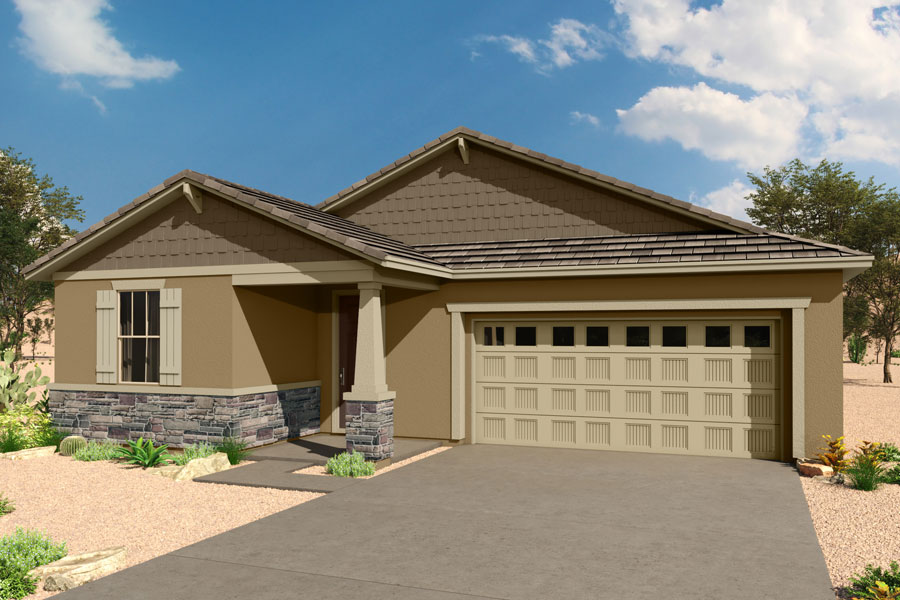 Emory Plan Elevation Front at Saguaro Trails in Tucson Arizona by Mattamy Homes