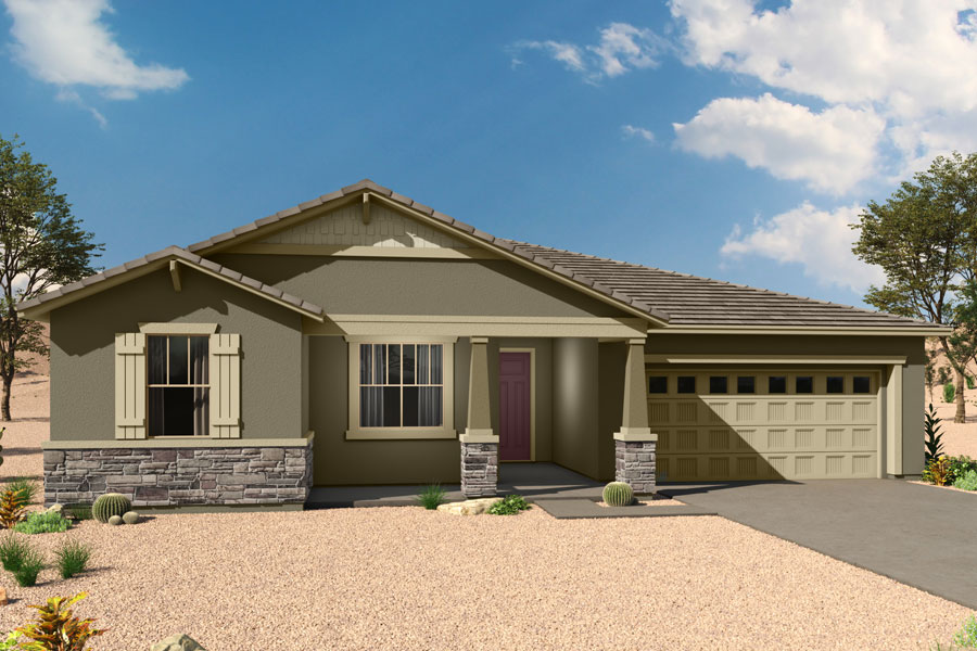 Jade Plan Elevation Front at Saguaro Trails in Tucson Arizona by Mattamy Homes