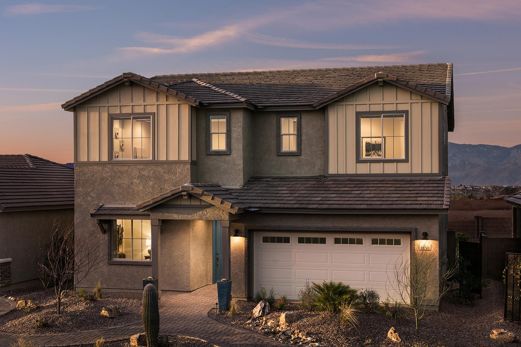 Mesquite Plan Elevation Front at Saguaro Trails in Tucson Arizona by Mattamy Homes