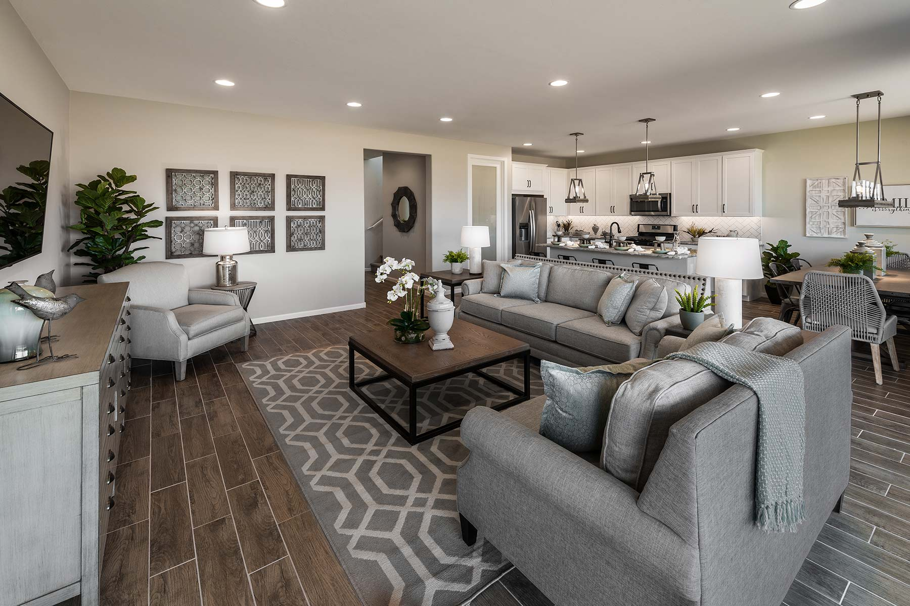 Mesquite Plan Greatroom at Saguaro Trails in Tucson Arizona by Mattamy Homes