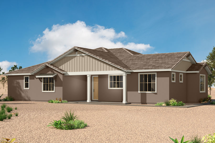 Ocotillo Plan Elevation Front at Saguaro Trails in Tucson Arizona by Mattamy Homes