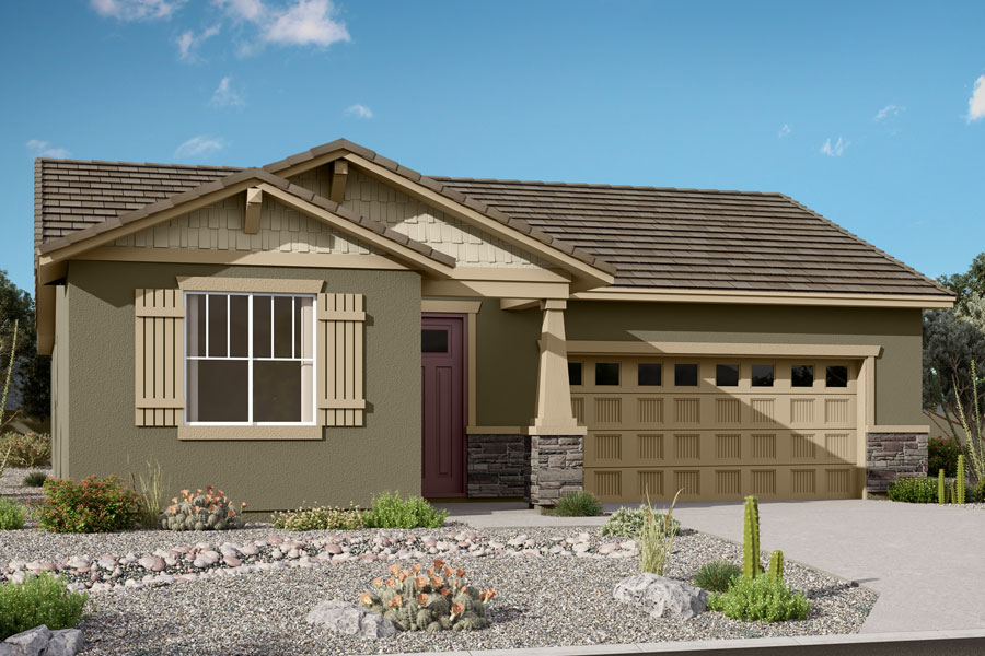 Rosewood Plan Elevation Front at Saguaro Trails in Tucson Arizona by Mattamy Homes