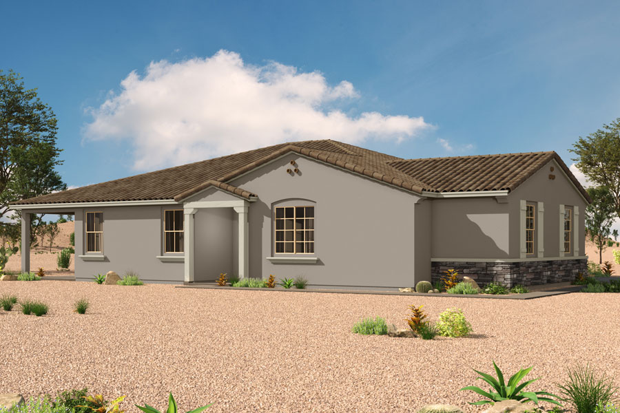 Saguaro Trails Elevation Front in Tucson Arizona by Mattamy Homes