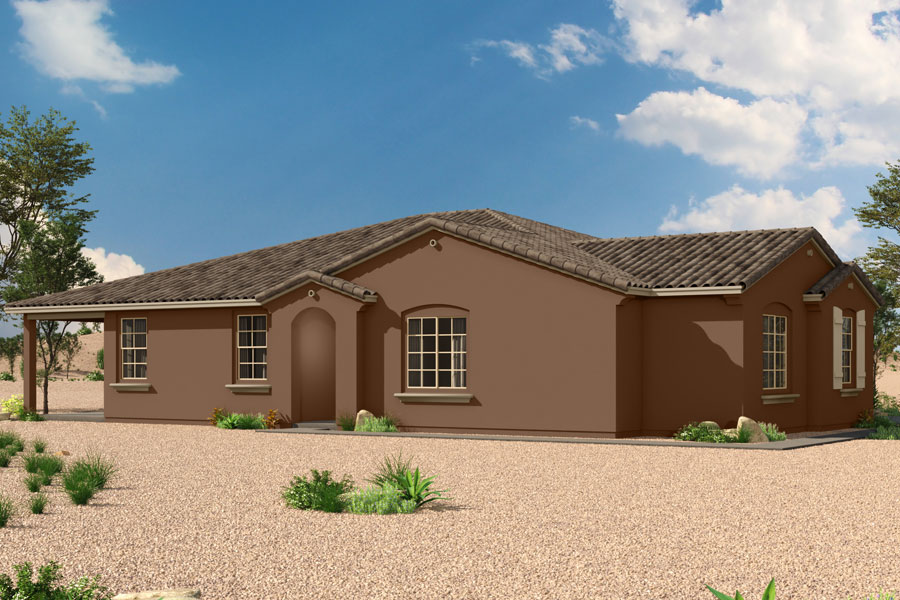 Senita Plan Elevation Front at Saguaro Trails in Tucson Arizona by Mattamy Homes
