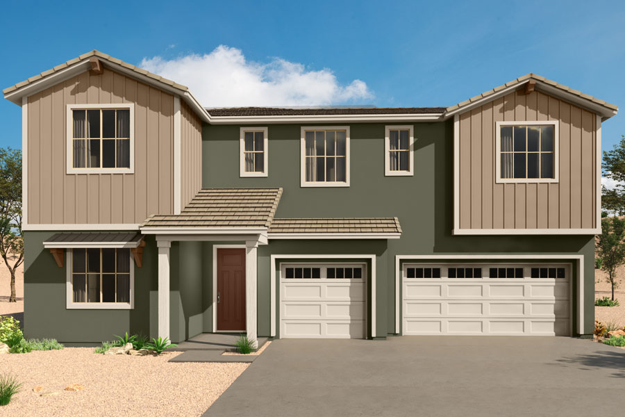 Sophora Plan Elevation Front at Saguaro Trails in Tucson Arizona by Mattamy Homes