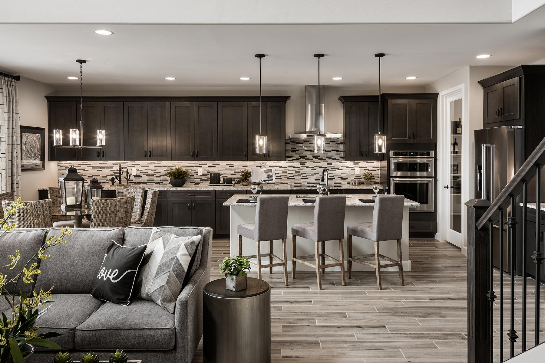 Sophora Plan Kitchen at Saguaro Trails in Tucson Arizona by Mattamy Homes