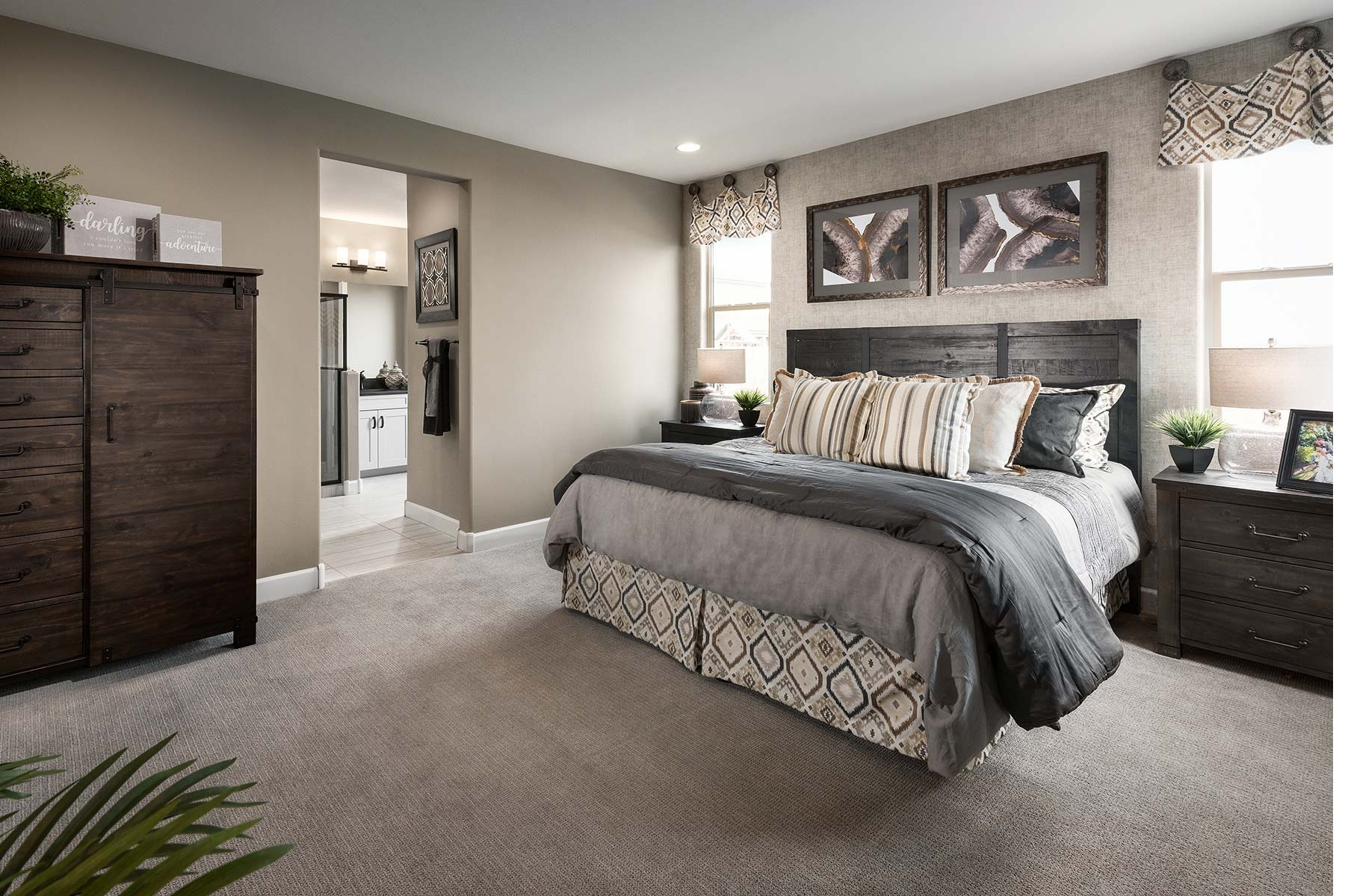 Sophora Plan Bedroom at Saguaro Trails in Tucson Arizona by Mattamy Homes