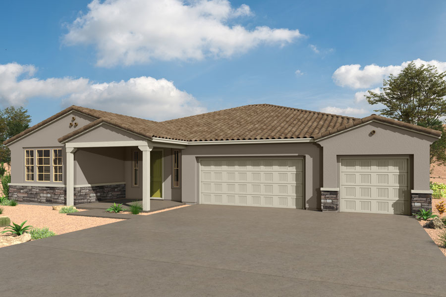 Ventana Plan Elevation Front at Saguaro Trails in Tucson Arizona by Mattamy Homes