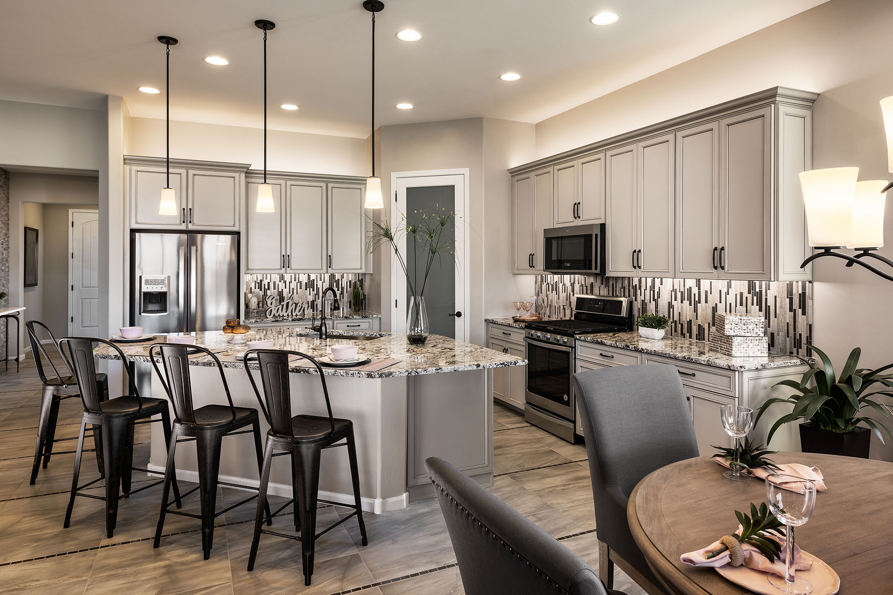 Aspect Plan Kitchen at Viewpointe at Vistoso Trails in Oro Valley Arizona by Mattamy Homes