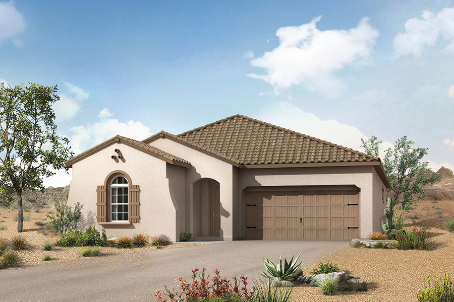 Aspect Plan Elevation Front at Viewpointe at Vistoso Trails in Oro Valley Arizona by Mattamy Homes