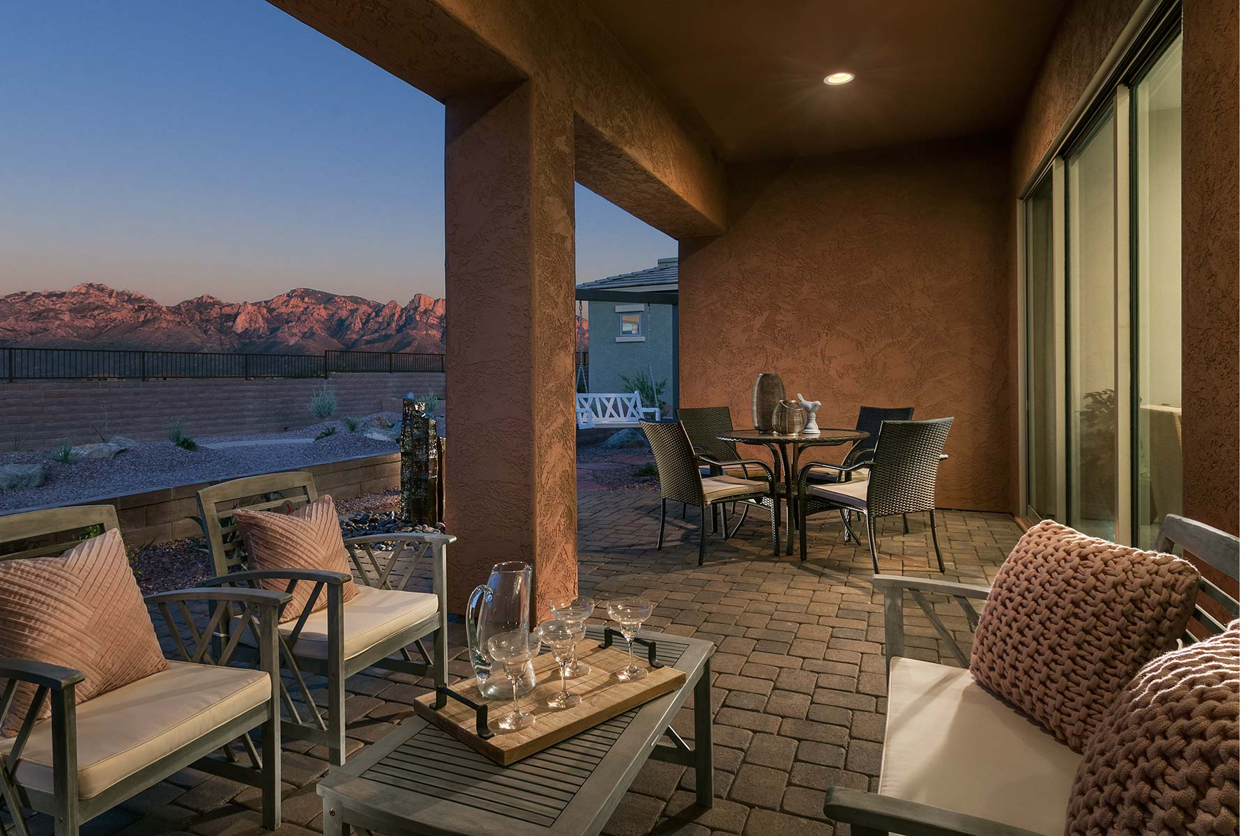 Aspect Plan House Backyard at Viewpointe at Vistoso Trails in Oro Valley Arizona by Mattamy Homes