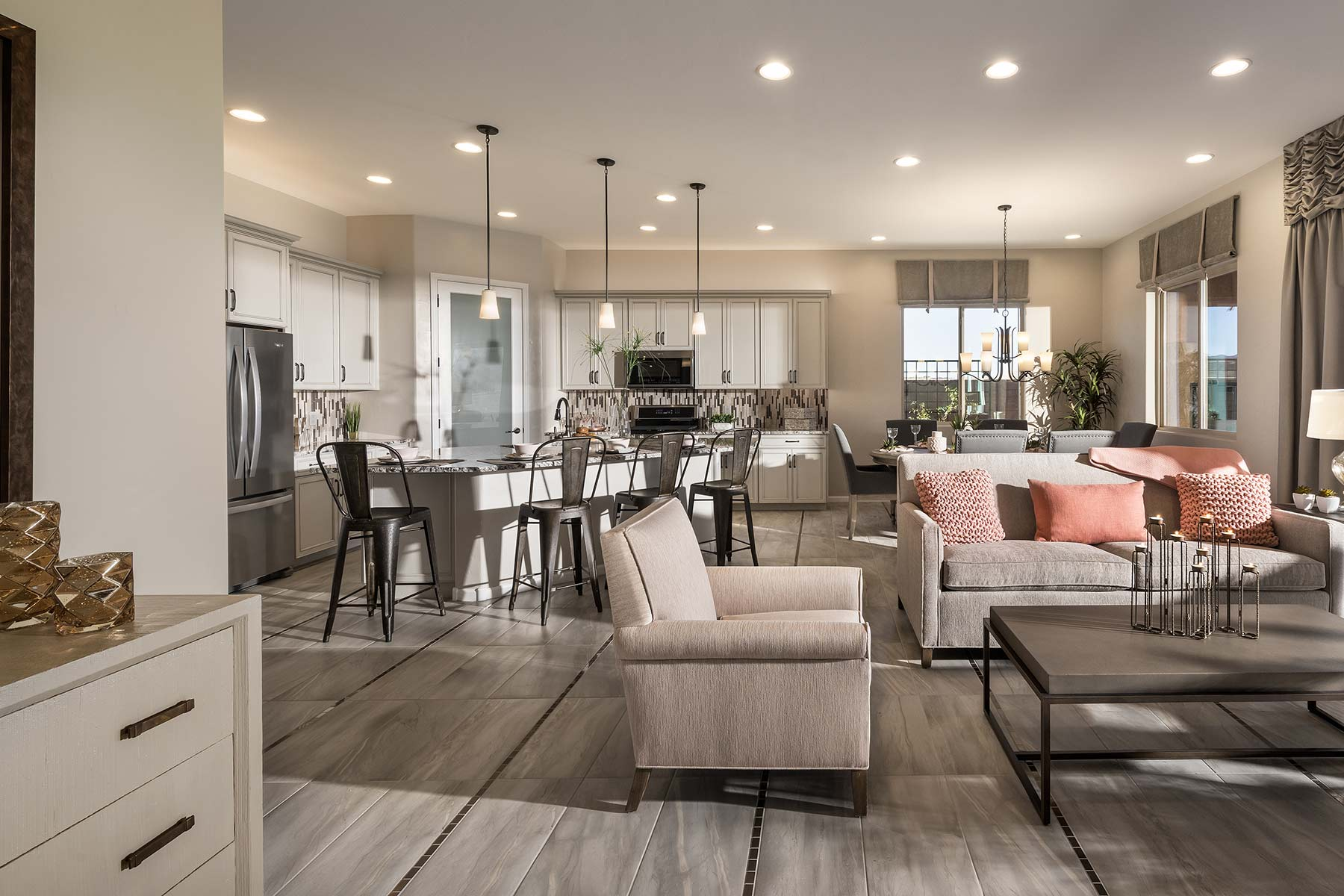 Aspect Plan Greatroom at Viewpointe at Vistoso Trails in Oro Valley Arizona by Mattamy Homes