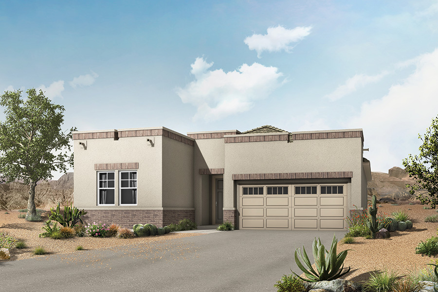 Montane Plan Elevation Front at Viewpointe at Vistoso Trails in Oro Valley Arizona by Mattamy Homes