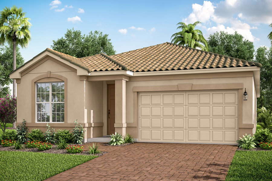 Antigua II Plan Elevation Front at Wellen Park - Renaissance in Venice Florida by Mattamy Homes