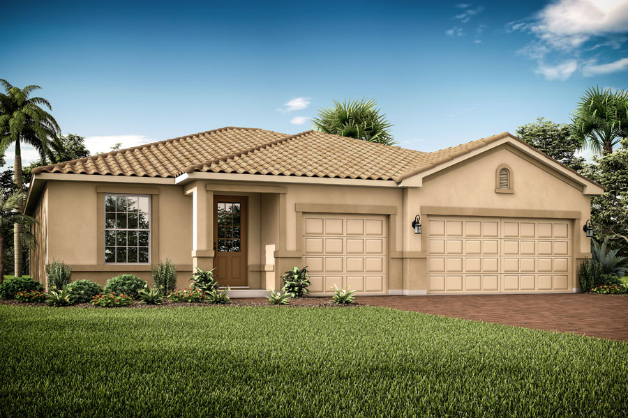 Augustine III Plan Elevation Front at Wellen Park - Renaissance in Venice Florida by Mattamy Homes