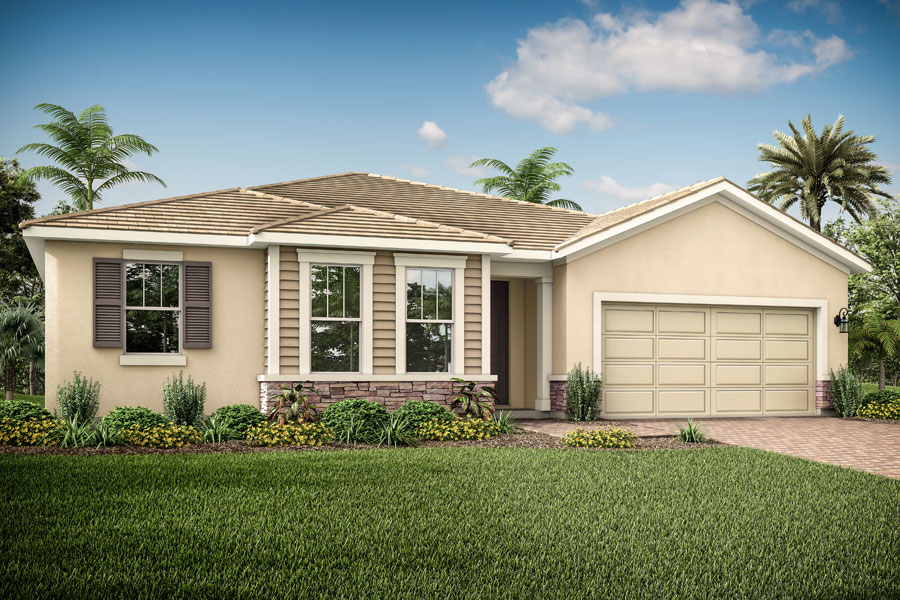 Coquina II Plan Elevation Front at Wellen Park - Renaissance in Venice Florida by Mattamy Homes