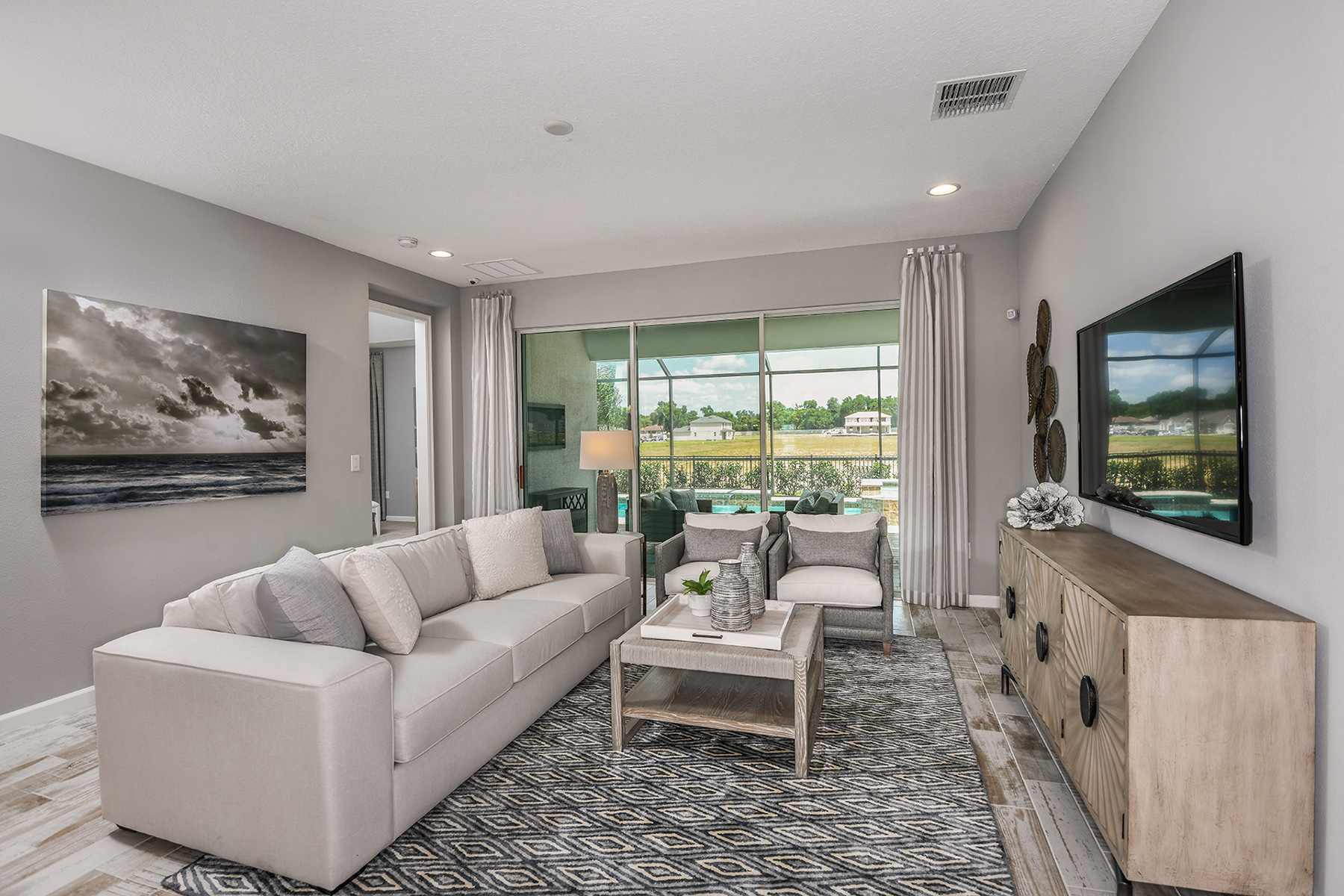 Coquina II Plan Greatroom at Wellen Park - Renaissance in Venice Florida by Mattamy Homes