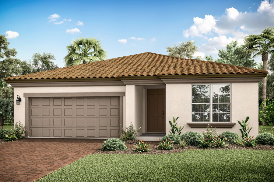 Dawn II Plan Elevation Front at Wellen Park - Renaissance in Venice Florida by Mattamy Homes