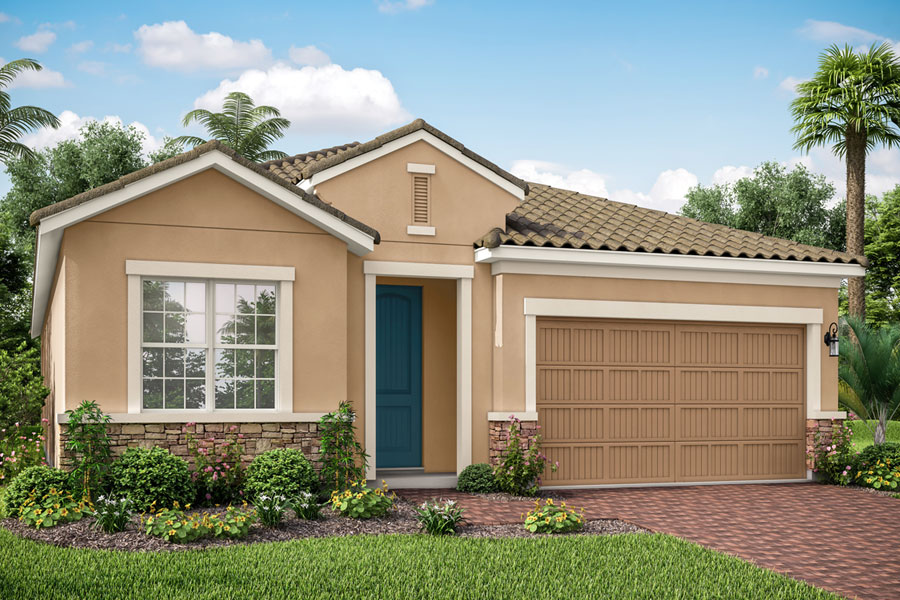 Dominica II Plan Elevation Front at Wellen Park - Renaissance in Venice Florida by Mattamy Homes