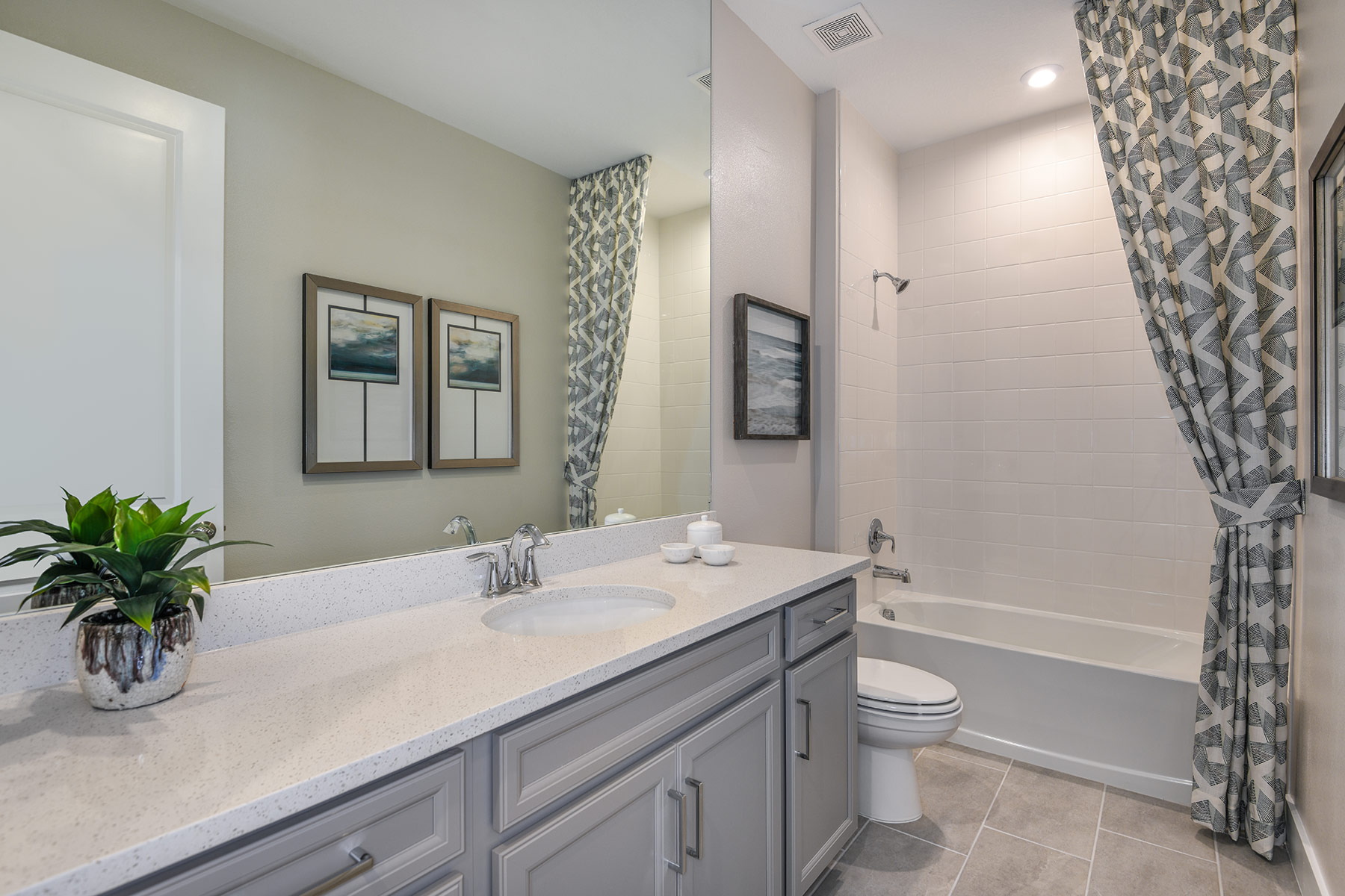 Dominica II Plan Bath at Wellen Park - Renaissance in Venice Florida by Mattamy Homes