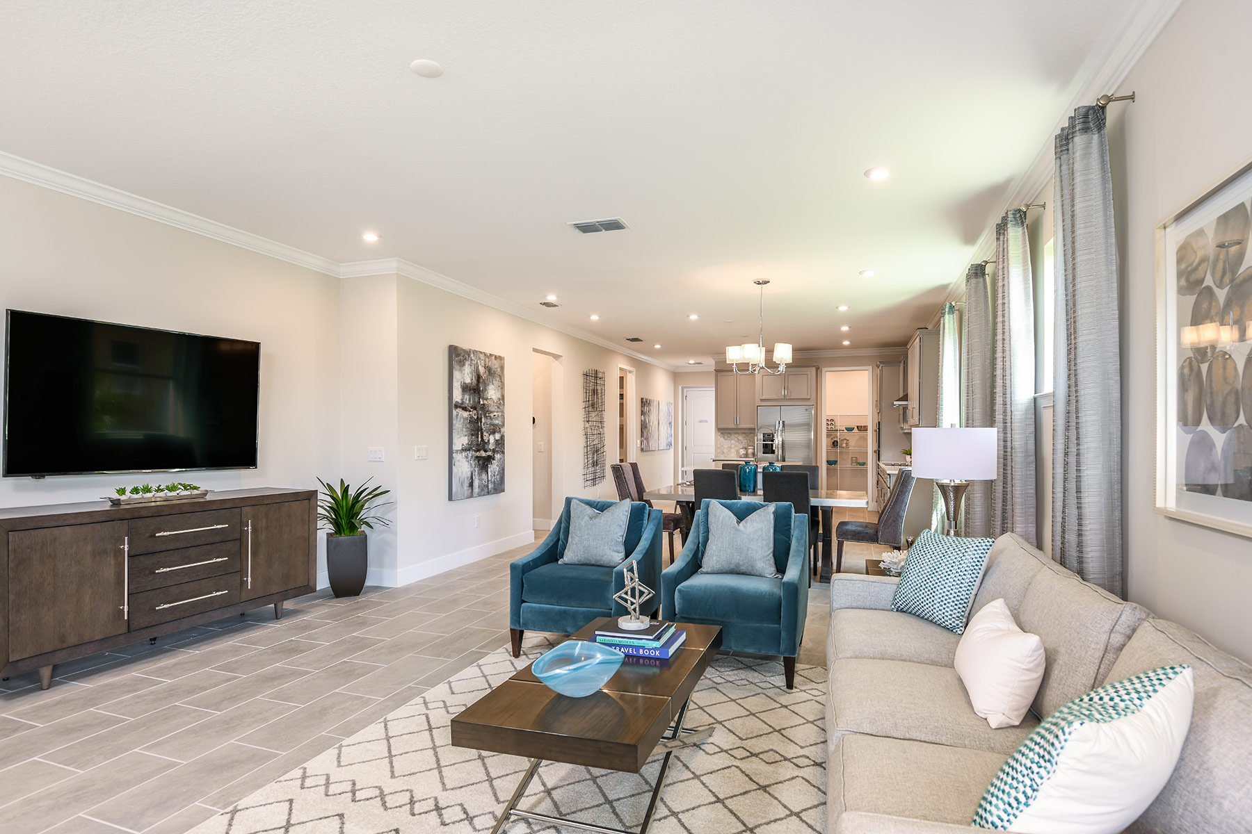 Dominica II Plan Greatroom at Wellen Park - Renaissance in Venice Florida by Mattamy Homes