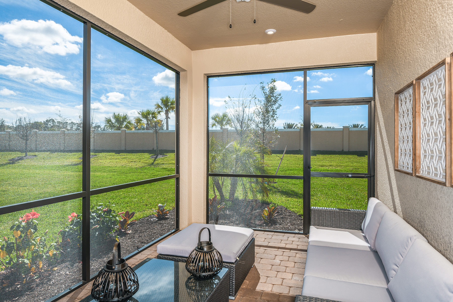 Dominica II Plan Patio at Wellen Park - Renaissance in Venice Florida by Mattamy Homes