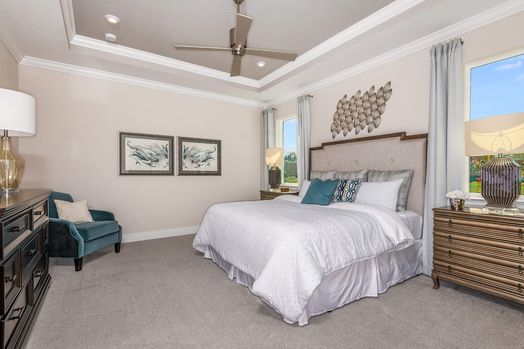 Dominica II Plan Bedroom at Wellen Park - Renaissance in Venice Florida by Mattamy Homes