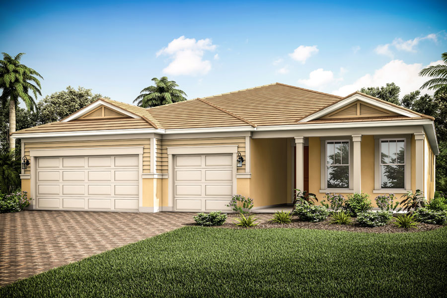 Jubilee II Plan Elevation Front at Wellen Park - Renaissance in Venice Florida by Mattamy Homes
