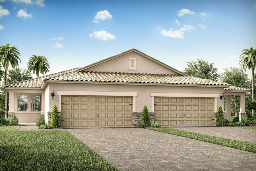 Riviera II Plan Elevation Front at Wellen Park - Renaissance in Venice Florida by Mattamy Homes
